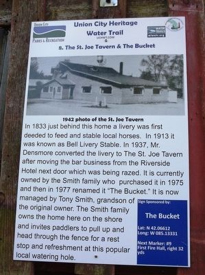 8. The St. Joe Tavern & The Bucket Marker image. Click for full size.