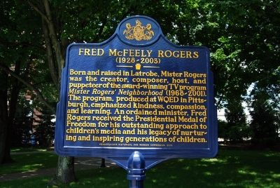 Fred McFeely Rogers Marker image. Click for full size.