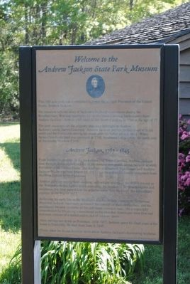 Welcome to the Andrew Jackson State Park Museum Marker image. Click for full size.