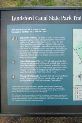 Landsford Canal State Park Trails Marker image. Click for full size.