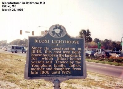 Biloxi Lighthouse Marker image. Click for full size.