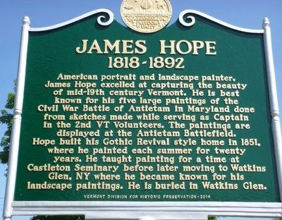 James Hope -- 1818-1892 Marker image. Click for full size.