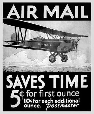 Early Airmail Poster image. Click for full size.