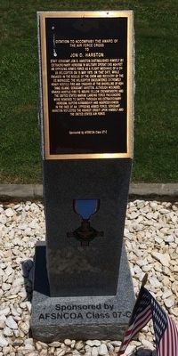 Award of Air Force Cross to Jon D. Harston Marker image. Click for full size.