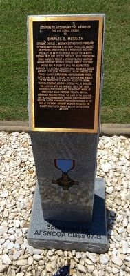 Award of Air Force Cross to Charles D. McGrath Marker image. Click for full size.