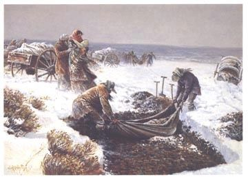 Martin Handcart Burial by Clark Kelly Price image. Click for full size.