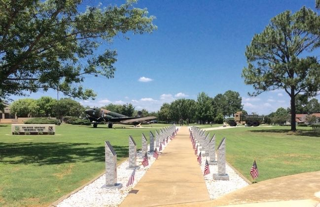 Wide view of AF Cross memorial plaques. image. Click for full size.