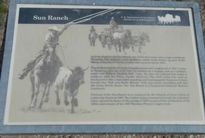 Sun Ranch Marker image. Click for full size.