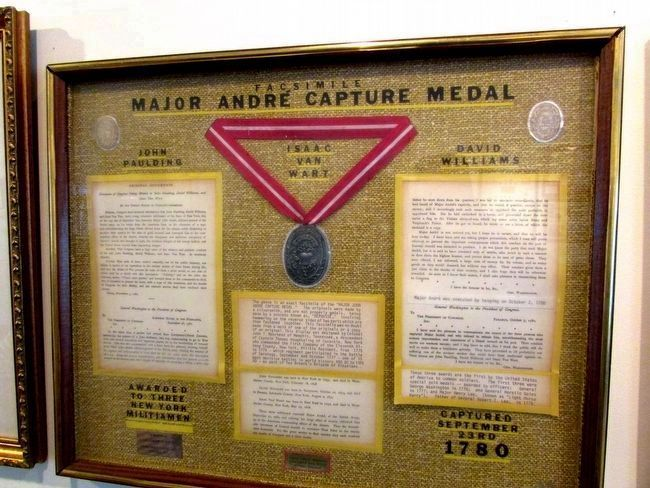 Major André Capture Medal image. Click for full size.