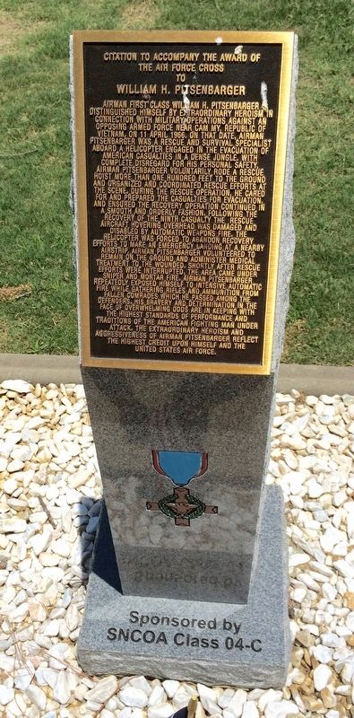 Award of Air Force Cross to William H. Pitsenbarger Marker image. Click for full size.