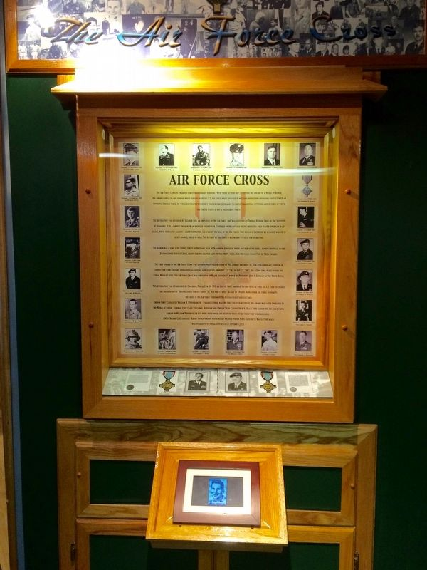 AF Cross exhibit located at nearby Enlisted Heritage Hall. image. Click for full size.