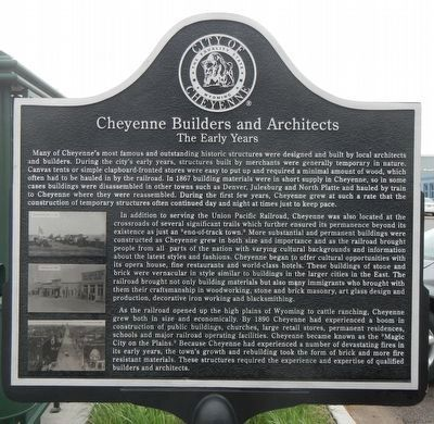 Cheyenne Builders and Architects Marker image. Click for full size.