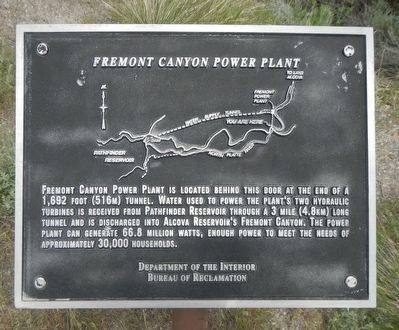 Fremont Canyon Power Plant Marker image. Click for full size.
