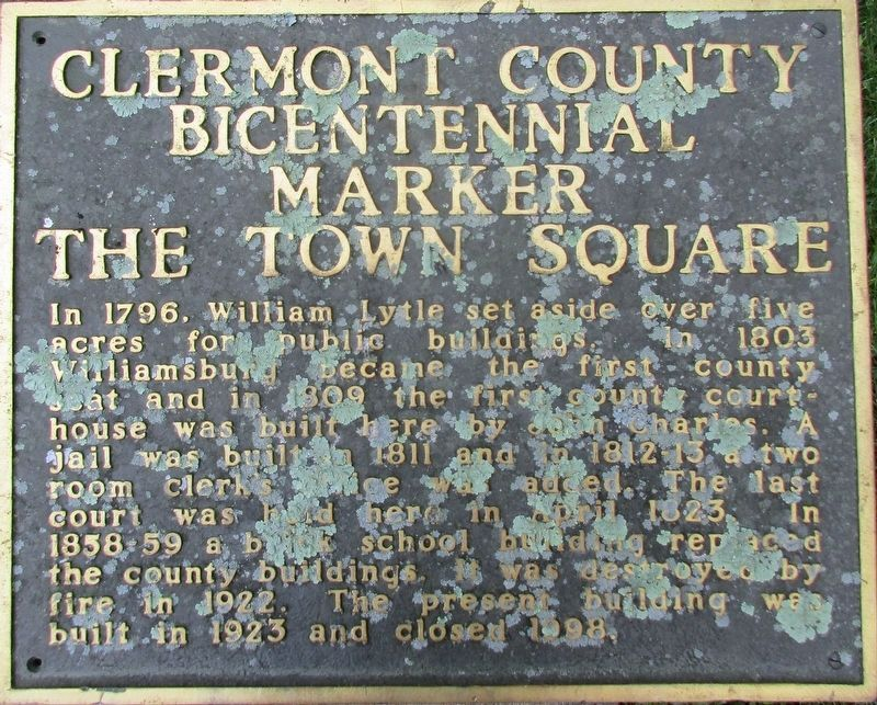 The Town Square Marker image. Click for full size.