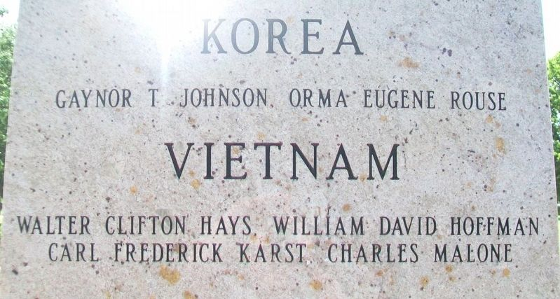 Russell County Veterans Memorial Korea and Vietnam Honored Dead image. Click for full size.