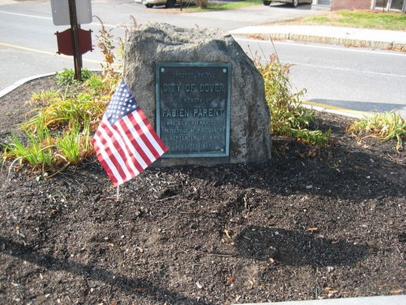 Dover NH WWI Parent Memorial Marker image. Click for full size.