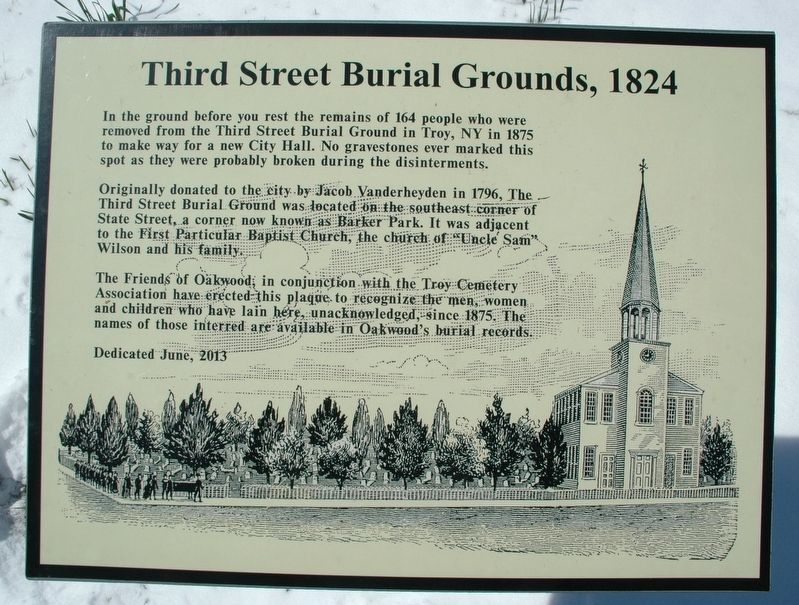Third Street Burial Grounds, 1824 Marker image. Click for full size.