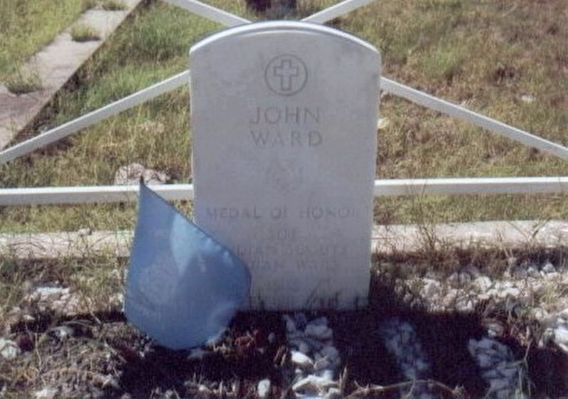 John Ward grave marker image. Click for full size.