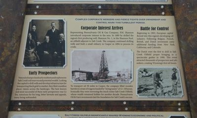 Salt Creek Oil Field Marker, middle panel image. Click for full size.