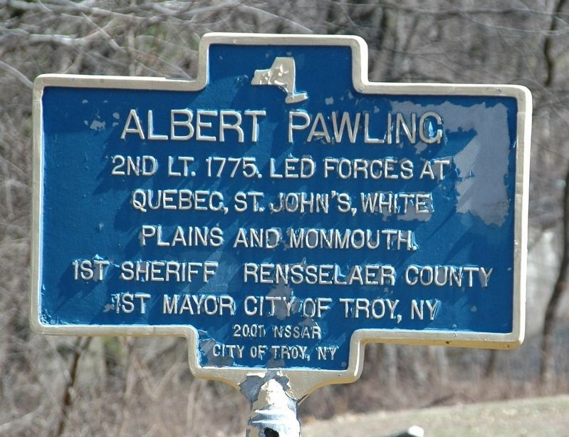 Albert Pawling Marker image. Click for full size.