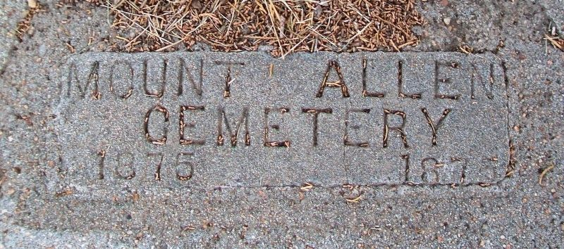 Mount Allen Cemetery Marker image. Click for full size.