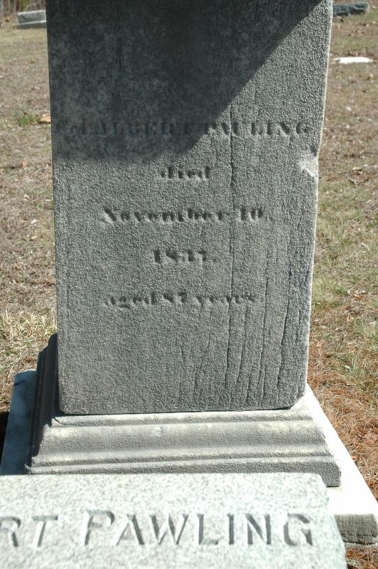 Albert Pawling Gravestone image. Click for full size.