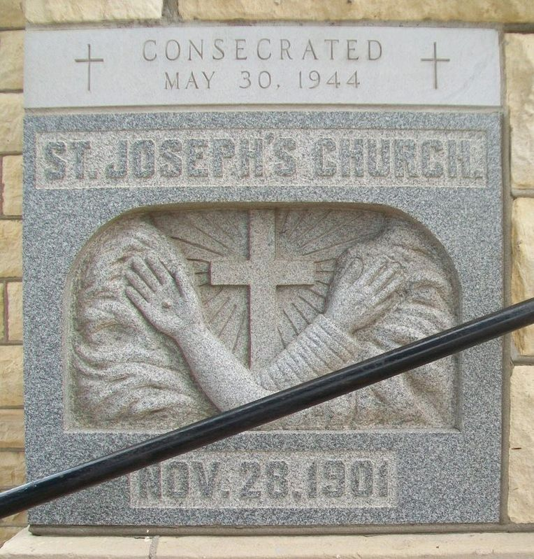 St. Joseph Church Cornerstone image. Click for full size.