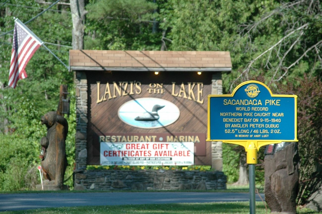 Sacandaga Pike Marker at Lanzi's image. Click for full size.