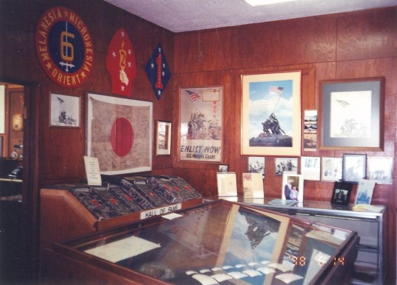 Inside the Marine Military Academy Museum image. Click for full size.