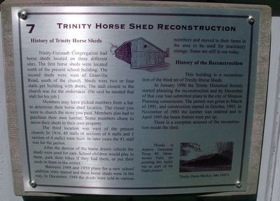 Trinity Horse Shed Reconstruction Marker image. Click for full size.
