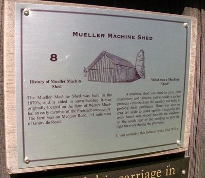 Mueller Machine Shed Marker image. Click for full size.