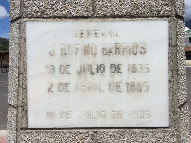 General Justo Rufino Barrios Marker image. Click for full size.