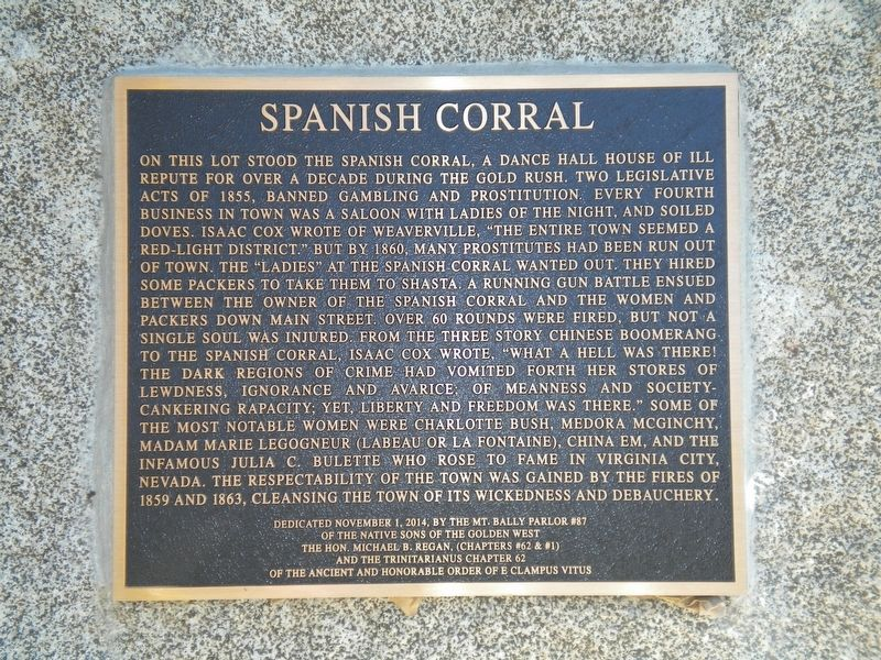 Spanish Corral Marker image. Click for full size.