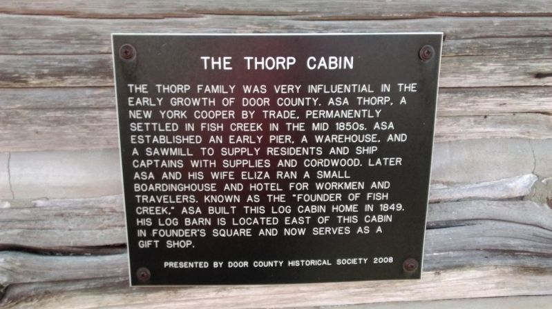 The Thorp Cabin Marker image. Click for full size.