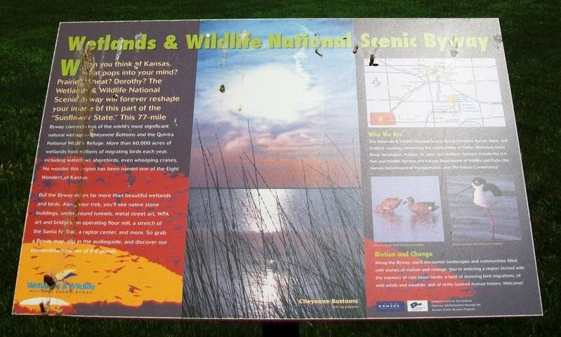 Wetlands & Wildlife National Scenic Byway Marker image. Click for full size.