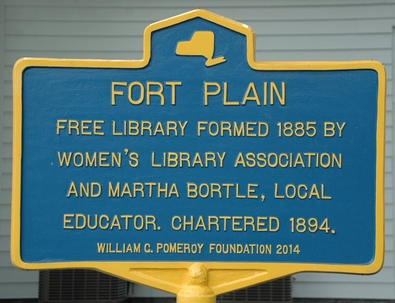Fort Plain Free Library Marker image. Click for full size.