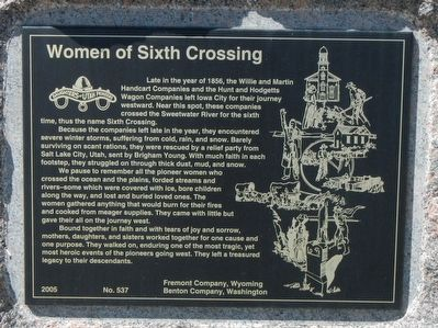 Women of Sixth Crossing Marker image. Click for full size.