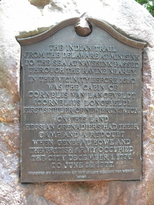 The Indian Trail Marker image. Click for full size.