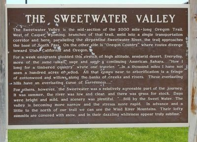 The Sweetwater Valley Marker image. Click for full size.