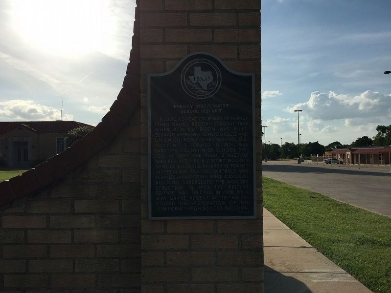 Forney Independent School District Marker image. Click for full size.
