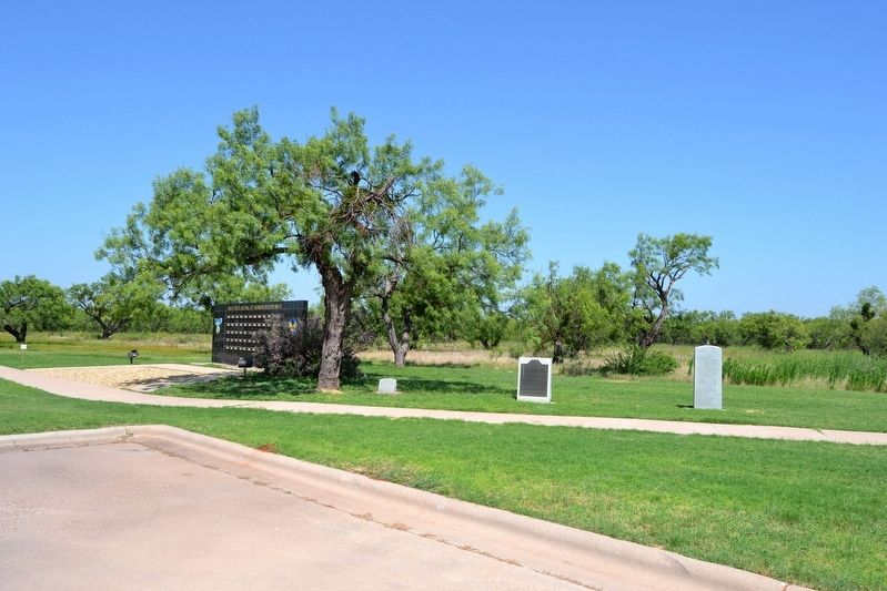 Markers and Memorials at Dyess Airpark image. Click for full size.