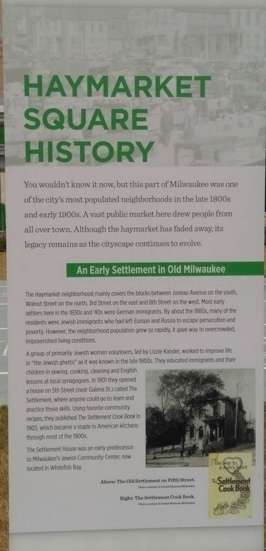 Haymarket Square History Marker Panel 1 image. Click for full size.