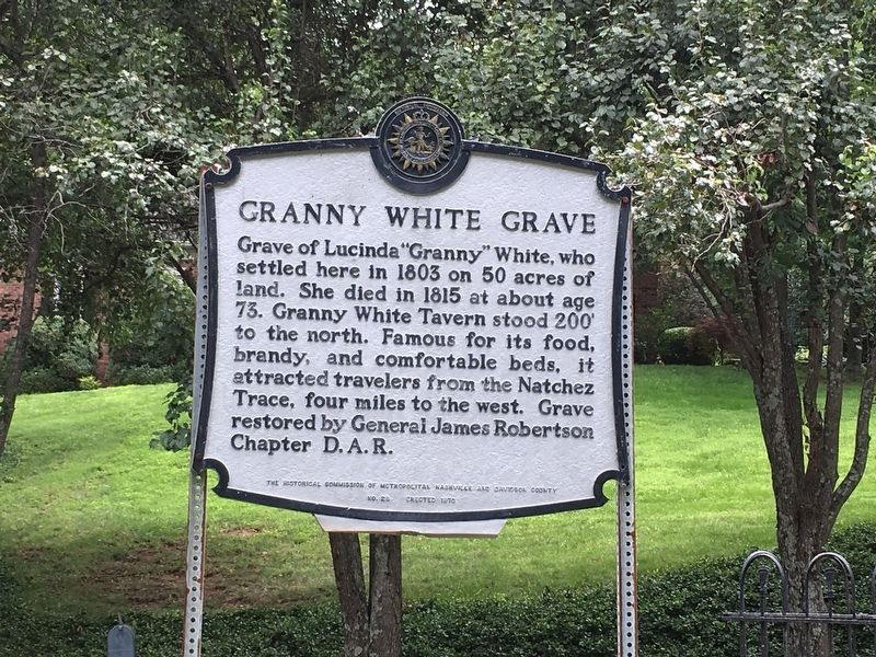 Granny White Grave Marker image. Click for full size.