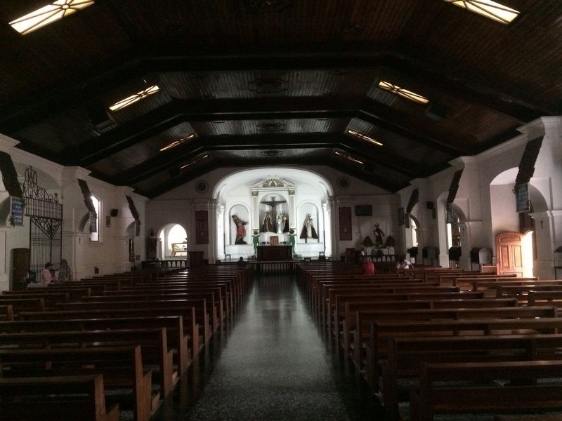 Interior of the San Sebastian Catholic Church image. Click for full size.