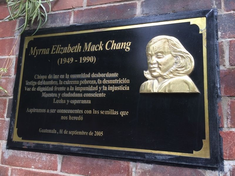 Myrna Elizabeth Mack Chang Marker image. Click for full size.