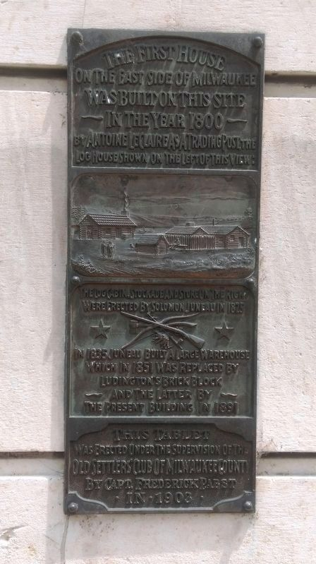 LeClaire's Trading Post Marker image. Click for full size.