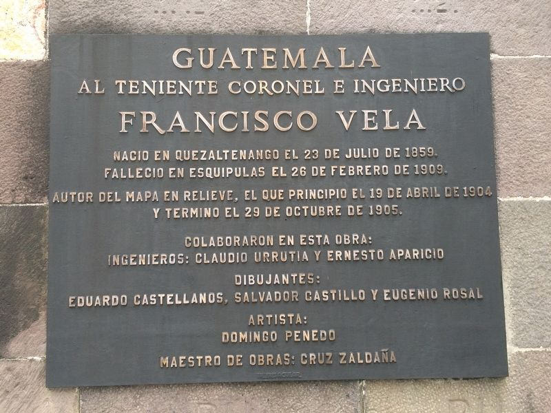 Lieutenant Colonel and Engineer Francisco Vela Marker image. Click for full size.