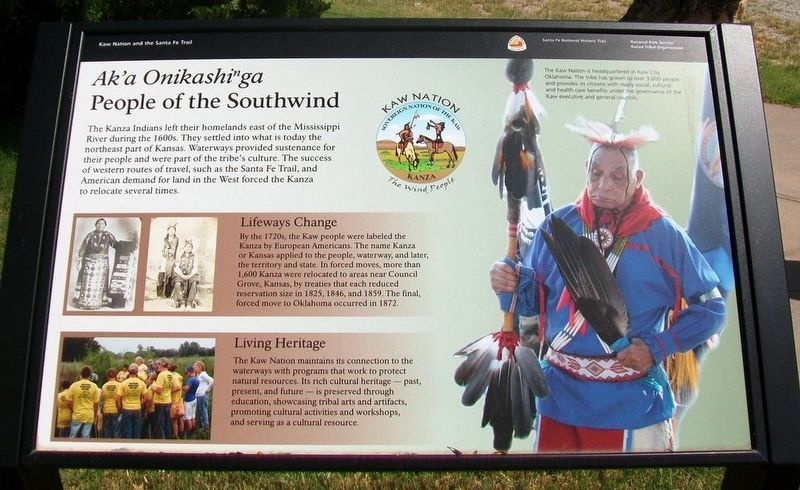 <i>Ak&#39;a Onikashin ga</i> � People of the Southwind Marker image. Click for full size.