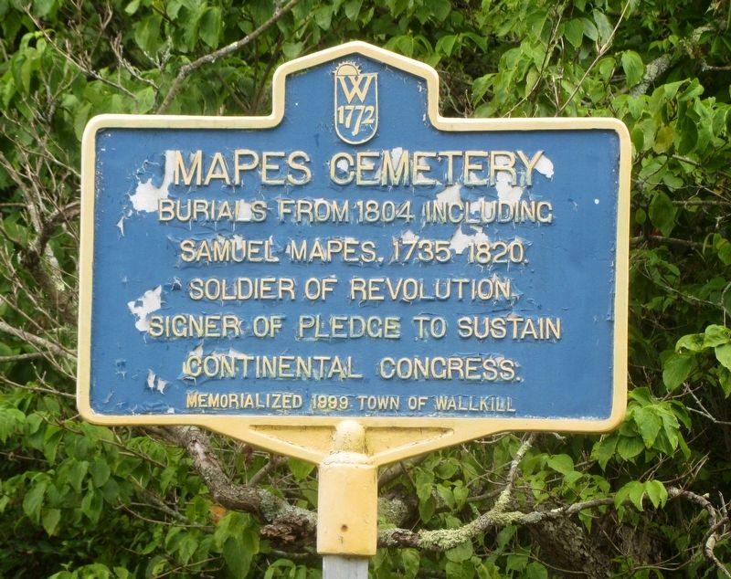 Mapes Cemetery Marker image. Click for full size.