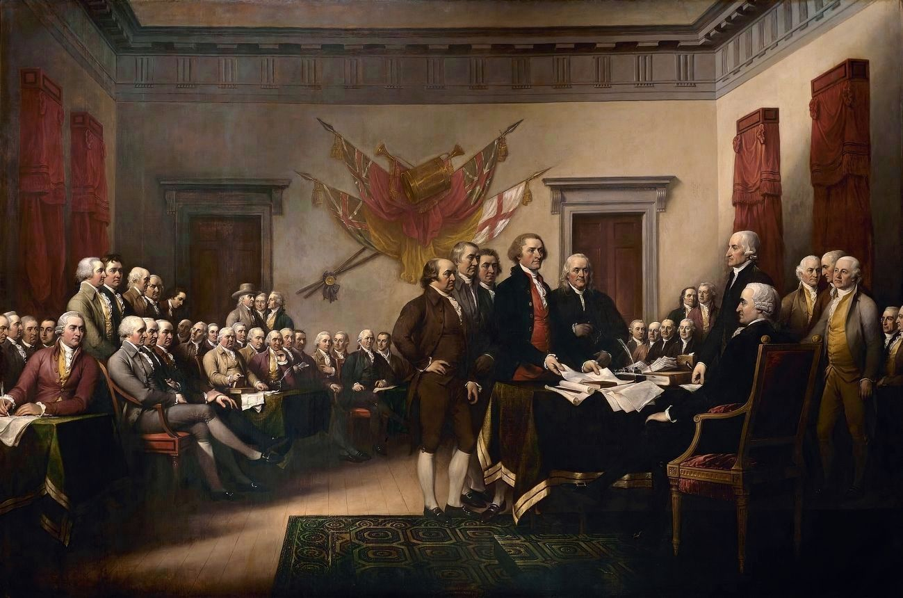 Declaration of Independence image. Click for full size.